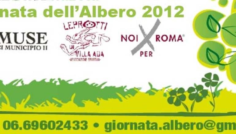 Tutti i bambini alla Giornata dell'Albero organizzata dal II Municipio di Roma