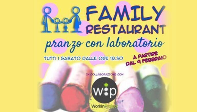 Al ristorante con i bambini senza stress con i laboratori didattici WIP