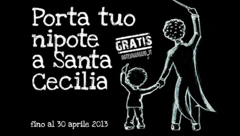 I concerti a Santa Cecilia gratis per i ragazzi accompagnati dai nonni