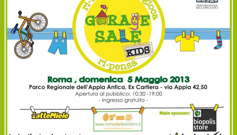 Il programma delle attività per bambini a Garage Sale Kids
