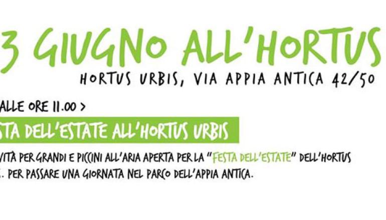 Festa dell'Estate all'Hortus Urbis attività per grandi e bambini