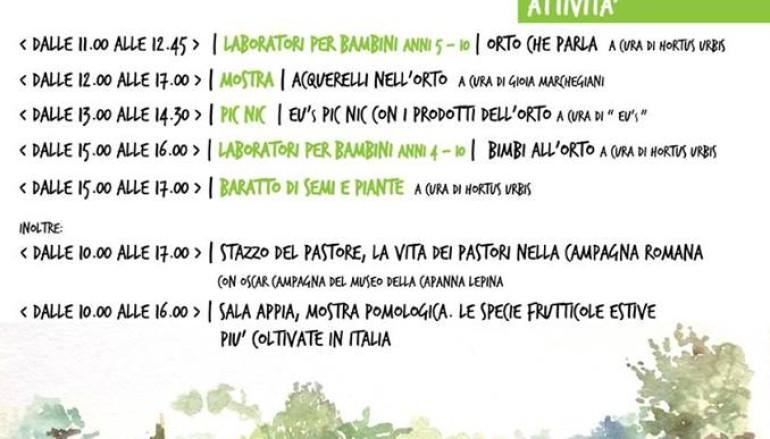 Riapre l'Hortus Urbis l'orto antico dei bambini di Roma