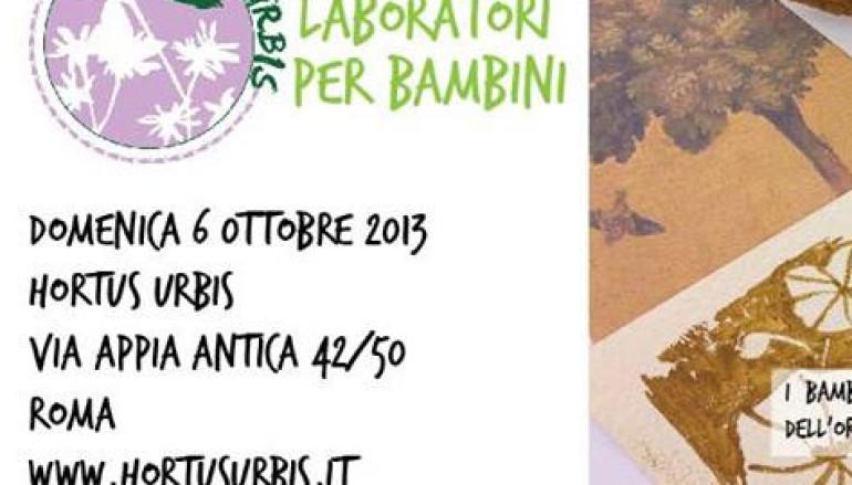 Nuovo laboratorio per i bambini all' Hortus Urbis