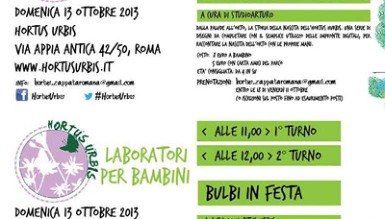 I Laboratori per bambini dell'Hortus Urbis di domenica 13 ottobre