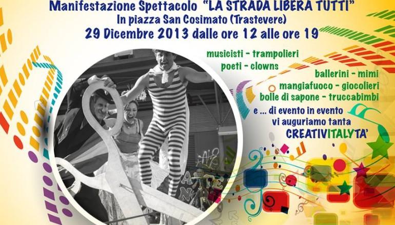 Festa in Piazza a Trastevere con artisti di strada e attività per bambini