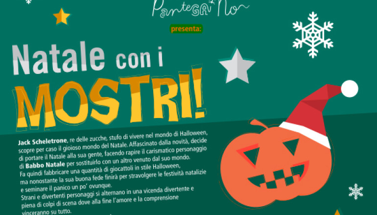 Natale con i mostri spettacolo per bambini al Teatro Trastevere di Roma