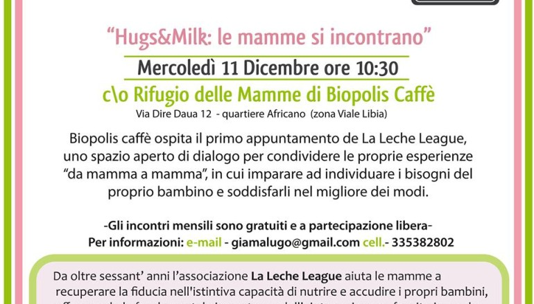 Da Biopolis Caffè, al Rifugio delle Mamme ogni mese incontri con Leche League