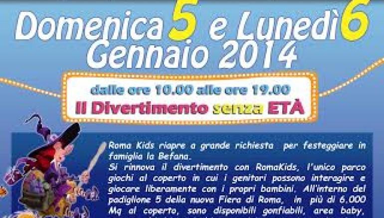 La Festa della Befana a Roma Kids il grande parco giochi per bambini al chiuso