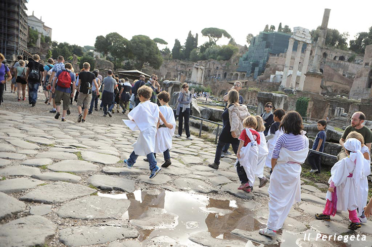 visita guidata i fori romani per bambini