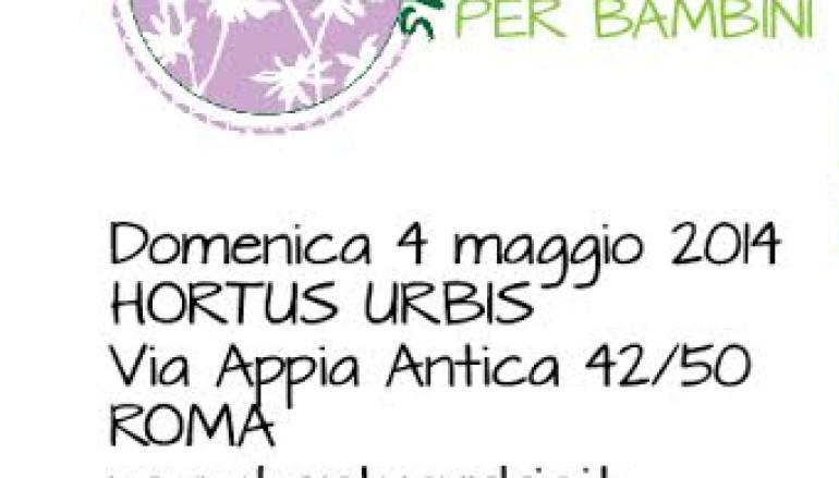 Domenica 4 maggio all'Hortus Urbis laboratorio per bambini  Toc Toc … chi è?