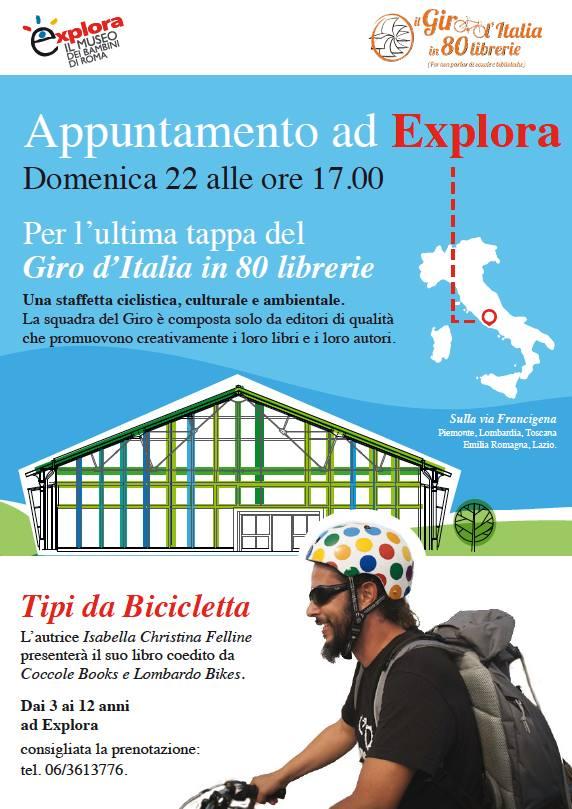 Il Giro d'Italia in 80 Librerie ad Explora