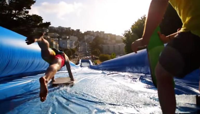 Acqua speed lo scivolo d'acqua urbano arriva ai Castelli