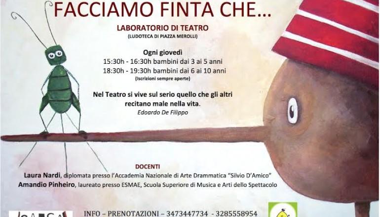 Corso di teatro per bambini a Roma Monteverde