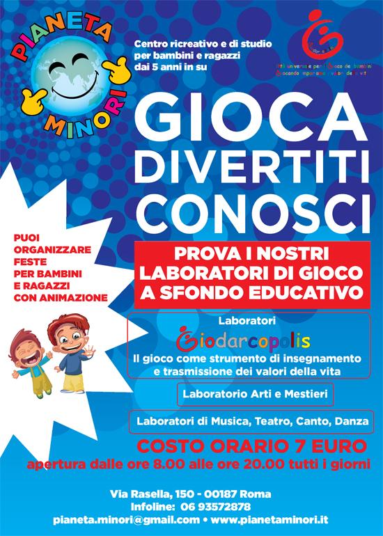 Favoloso Pianeta Minori il centro ricreativo per bambini in centro a Roma CV02
