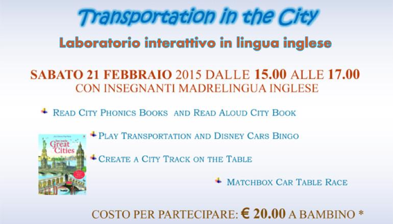 Gran Prix –Transportation in the city laboratorio in lingua inglese