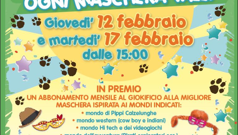 Carnevale al Giokificio per bimbi da 3 a 8 anni a Roma nord