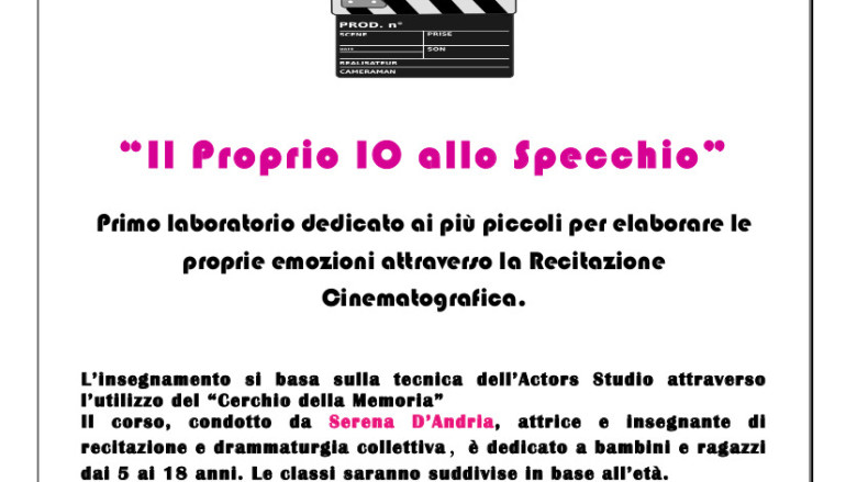 Laboratorio di Recitazione Cinematografica per ragazzi a Roma
