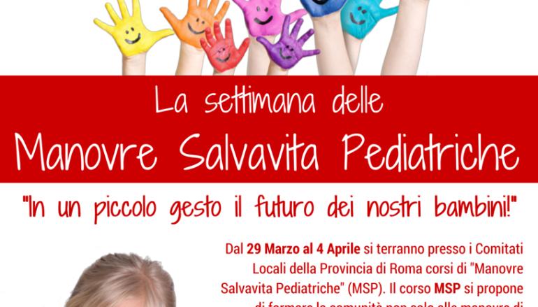 Settimana delle manovre Salvavita pediatriche