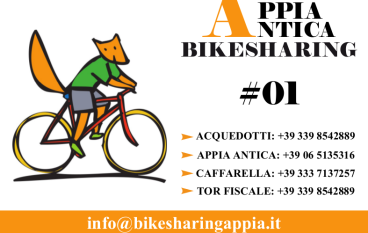 Bike Sharing al Parco dell'Appia Antica