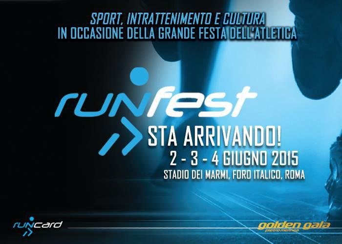 2-3-4 giugno a Roma Runfest sport per grandi e bambini