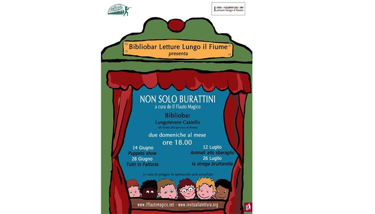 Non solo Burattini spettacoli gratuiti per bambini al Bibliobar