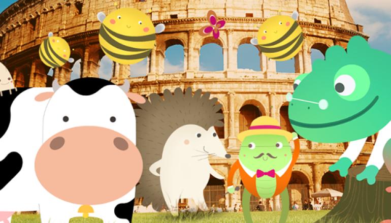 I personaggi delle oasi della Crescita® Plasmon nei parchi di Roma