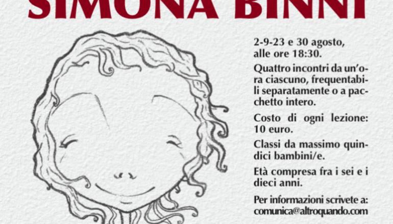 Workshop di fumetto con Simona Binni ai Giardini di Castel S. Angelo