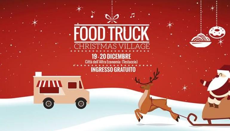 Villaggio di Natale, cibo da strada, intrattenimenti per bambini