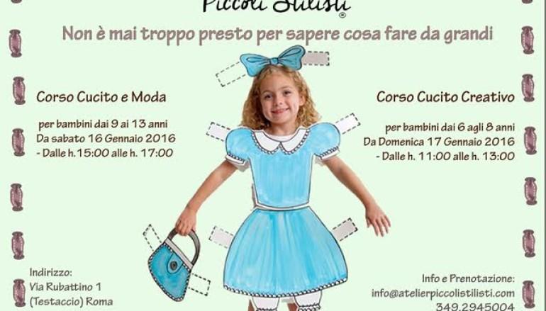 Corsi di  Moda e cucito creativo per bambini a Roma da Gennaio