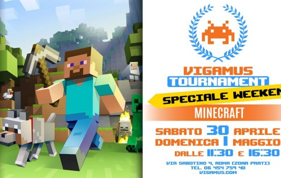 Speciale Torneo Minecraft al Vigamus