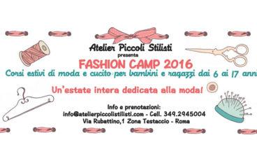 Fashion camp di settembre 2016: Corsi di moda e cucito per bambini e ragazzi