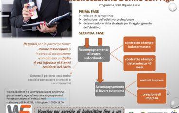 Bando della regione Lazio per favorire l'occupazione femminile