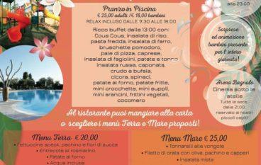 Bye Bye estate festa in Piscina al ristorante Bagnolo