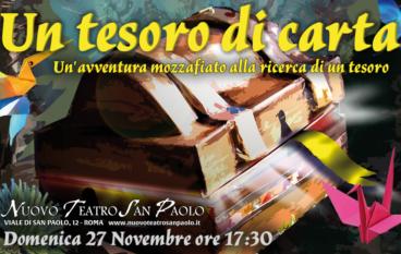 Un tesoro di carta spettacolo per famiglie Nuovo Teatro San Paolo
