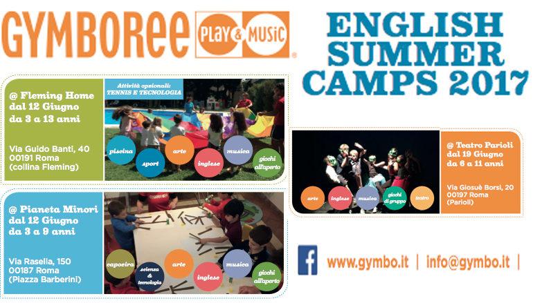 Gymboree English Summer camps 2017 – Centri estivi in inglese al Fleming, Roma Centro e Parioli