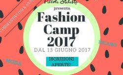 Fashion Camp 2017 dai 6 ai 13 anni a Gianicolense