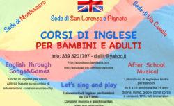 Corsi d'inglese per bambini a Montescacro, Via Cassia e al Pigneto