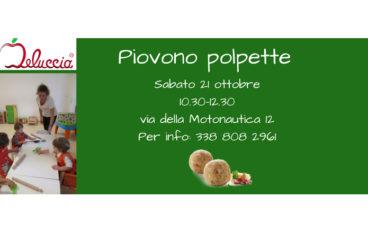 Piovono polpette, laboratorio per bambini fino a 4 anni a Roma nord