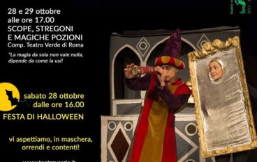 SCOPE, STREGONI E MAGICHE POZIONI lo spettacolo di Halloween al Teatro Verde di Roma