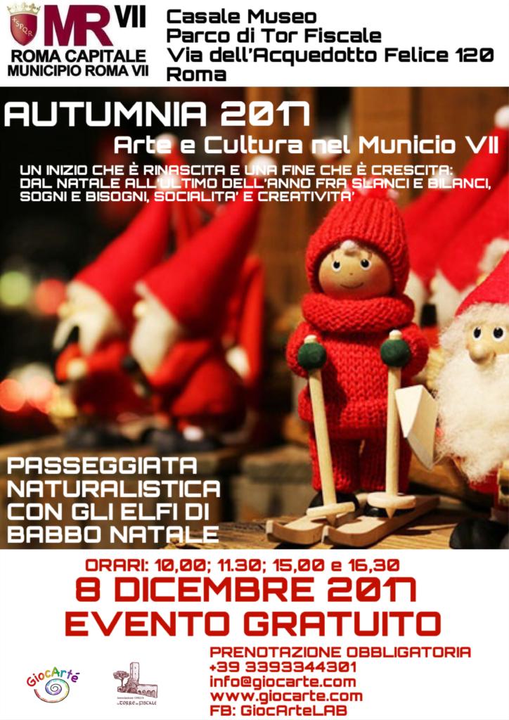 Babbo Natale 8 Dicembre Roma.Al Parco Di Tor Fiscale Passeggiata Con Gli Elfi Di Babbo Natale