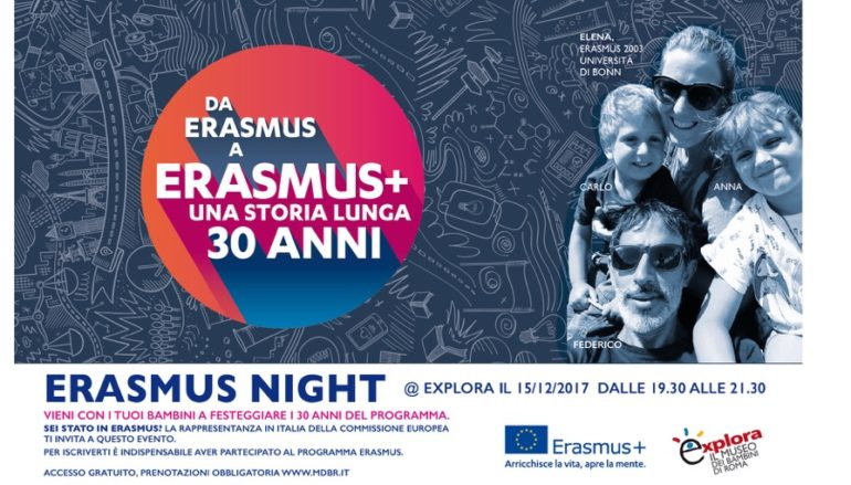 Erasmus Night @Explora- evento gratuito per famiglie