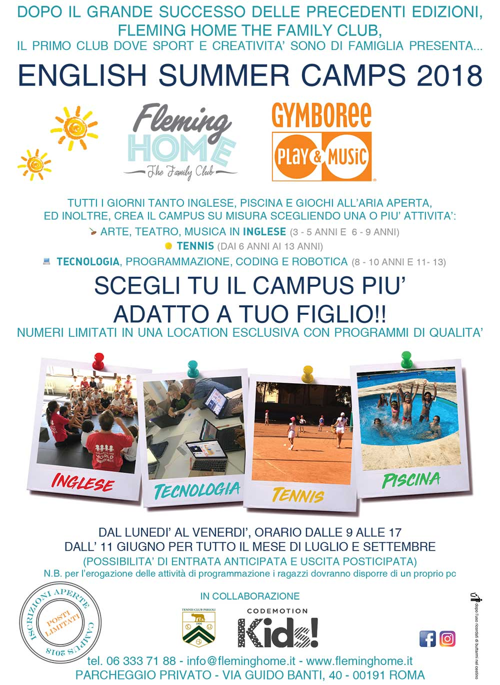 summer camp 2018 roma nord