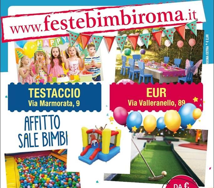 Sala per le feste di compleanno dei bambini a Roma Testaccio e a