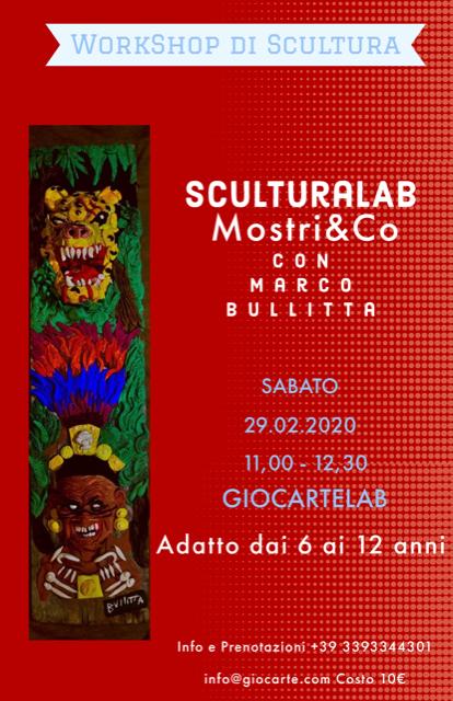 laboratorio scultura bambini 6-12anni