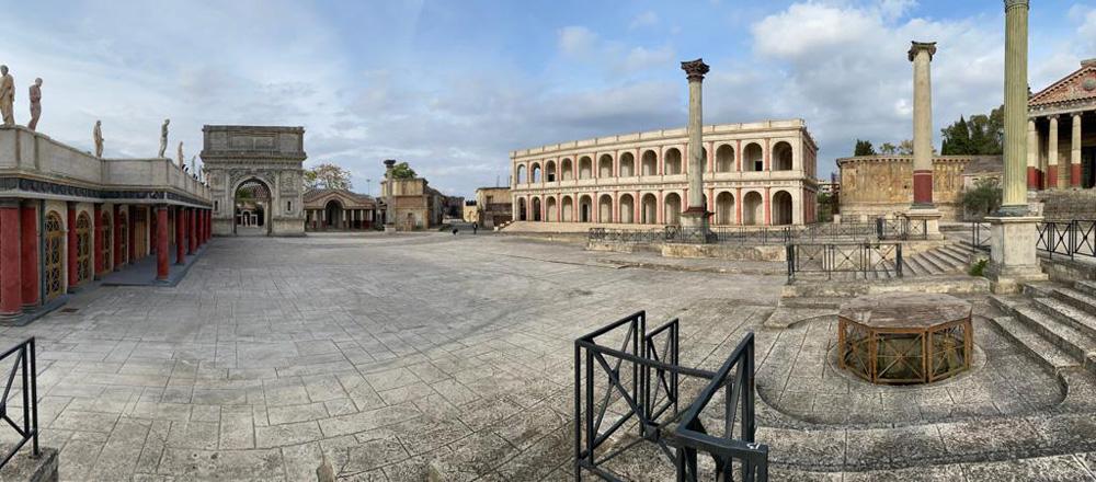 set antica roma cinecittà